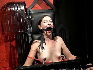 Restrained milf Lolanis amateur bdsm together with tied tit tortures of suffering slavegir