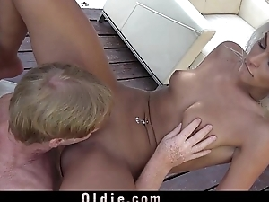 Young nympho wife hard shagging old hubby check b determine invective swallows ejaculation