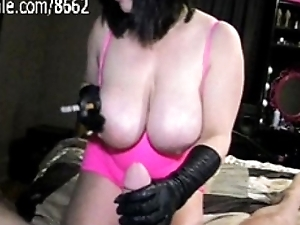 Concupiscent Milf Smoking cigarettes while Jacking Off Big cock!