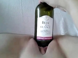 Wine Bottle Bawdy cleft Fuck