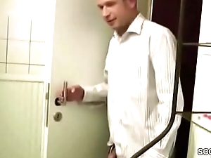 Band together for Son Caught German MILF in Shower and Seduce Fuck