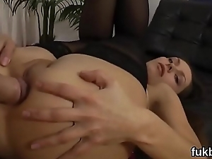 Frisky stunner opens up her twat and likes hardcore gender