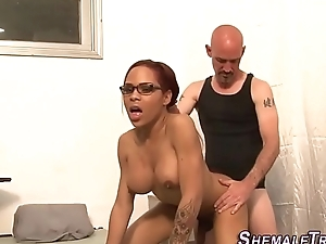 Black shemale pounded