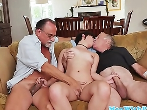 Teen amateur unwashed cock in oldman triptych
