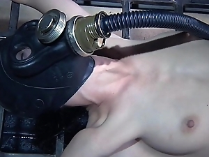 One perverted couple tortures restrained bitch in gas muzzle Elise Graves hard - Mobile Sexual congress