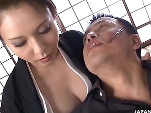 Cumming dominant the boss ladie'_s wet and enthusiastic pussy
