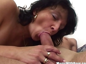 Stepson Restrained By Brunette Lickerish Stepmom