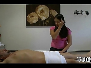 Breathtaking fuck replaces massage