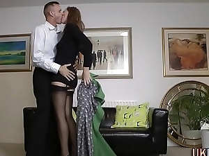 Nylons mature banged