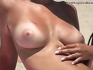 Sexy busty unreserved Topless laze about