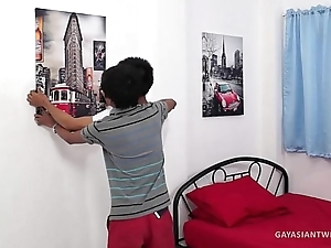 Asian Boys Argie and Benjamin Barebacking