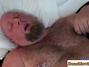 Leather live Steve Sommers copulates chubby live