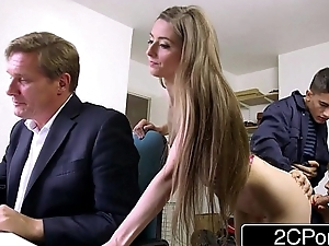 Sneaky Consumptive Strapped take flight Fucks Boss'_s Wife and Daughter - Tarra White, Leyla Morgan