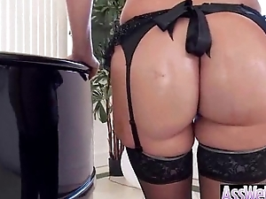 (jenna ivory) Curvy Oiled Butt Girl Enjoy On Cam Anal Carnal knowledge video-14