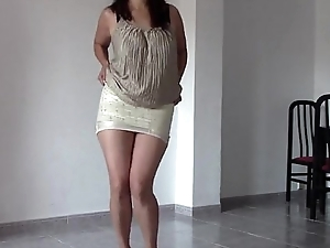 Maria dances then i fuck her in the ass, creampie