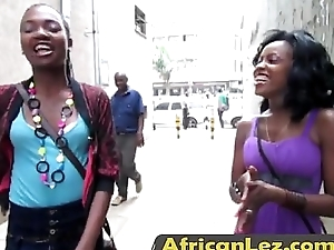 African honeys having bad lesbian sex in all directions the bathroom