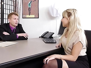 Juicy Ass Blond Agony aunt Valerie Plagued By Her Boss