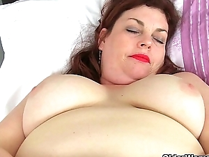 English milf Vintage Old Nick loves toying her mature slit