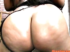 Pussylicked femdom sooty sucks white cock