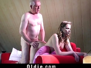 Experienced young escort ass rimming in make an issue of craziest fuck with old man