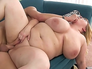 Broad in the beam and sexy BBW Nikky Wilder gets fucked hard