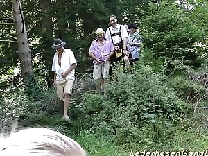 german lederhosen bang in nature